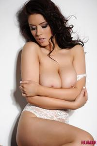 Kelly Andrews - Strips from her white bodysuit 242pkrkcvw.jpg