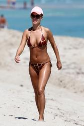 Joanna Krupa - bikini beach vacation candids in Miami