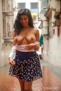 Carla White flashing her big brown boobies in the street!  64op09oa5q.jpg